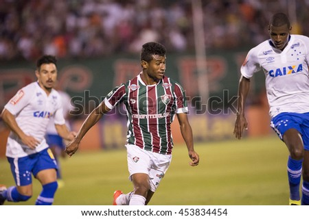 Rio de Janeiro, Brazil - April 10, 2016: Maranhao player in match between Fluminense and Cruzeiro by the Brazilian championship in the Giulite Coutinho Stadium