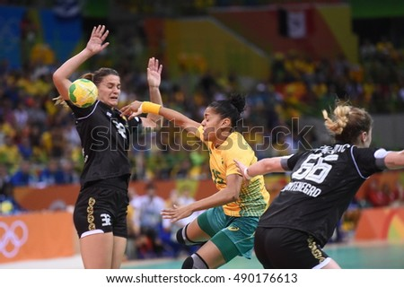 Rio de Janeiro-Brazil, August 10, 2016 Handball Brazil and Montenegro match during the 2016 Olympic Games