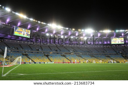 RIO DE JANEIRO, BRAZIL - August 27, 2014: Soccer match between Botafogo and Cear�¡ at Maracana Stadium during the 2014 Brazilian Championship.