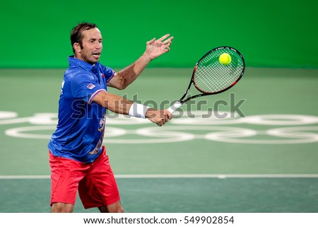 Rio de Janeiro, Brazil. August 13, 2016. TENNIS - MIXED DOUBLES QUARTERFINAL  HRADECKA Lucie (CZE)/STEPANEK Radek (CZE) vs BEGU Irina-Camelia (ROU)/TECAU Horia (ROU) at the Summer Olympic Games