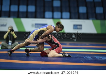 Rio de Janeiro-Brazil January 31, 2016- Test Preparation for the 2016 Olympics, Olympic wrestling.