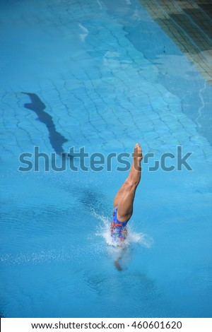 Rio de Janeiro-Brazil July 29, 2016 Italian Team diving in the Olympic Games 2016