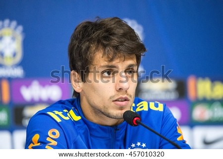 Rio de Janeiro, Brazil - july 23, 2016: Rodrigo Caio during Collective of the Brazilian Olympic Football held at Comary Granja.