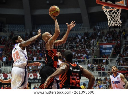 Rio de Janeiro-Brazil March 15, 2015 - Basketball, league final of the Americas in Maracanazinho gym. match between Flamengo x Penarol (Argentina)