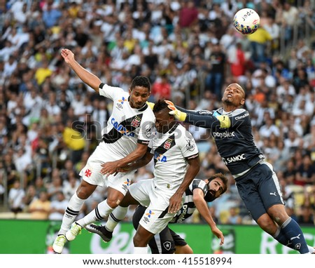 RIO DE JANEIRO, BRAZIL - May 01, 2016: Soccer match between Vasco and Botafogo at the Carioca Championship.