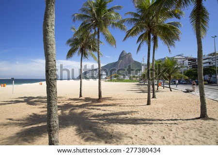 Rio de Janeiro Ipanema Beach Brazil - stock photo