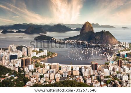 Rio de Janeiro Skyline - Brazil - stock photo