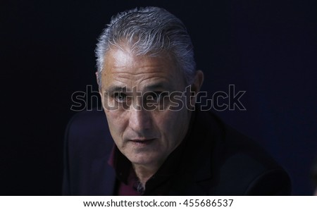 Rio de Janeiro, Teresopolis  July 20th, 2016  Brazilian national soccer team coach Tite during a press conference.