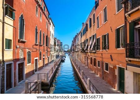 Rio della Fornace. Dorsoduro. Venice. Italy.  - stock photo