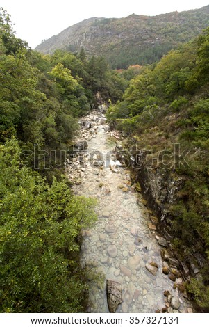 Rio Homem at Geres National Park, in northern Portugal - stock photo