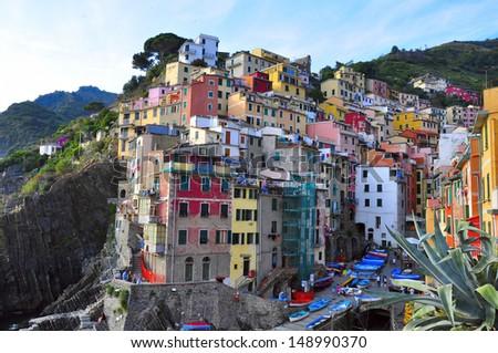 Riomaggiore, Cinque Terre, Italy - stock photo