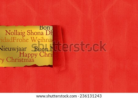 Rip paper against holiday greetings different stock illustration rip in paper against holiday greetings in different languages m4hsunfo