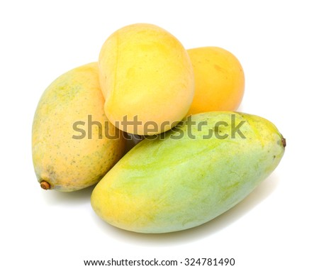 rip mango fruit isolated on white background