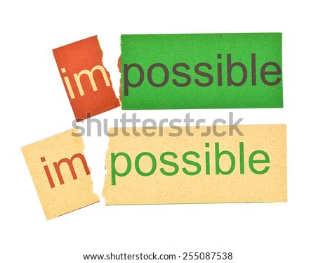 Rip paper for changing word impossible to possible. Business concept photo of problem solving and overcoming challenges. - stock photo
