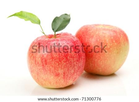 Ripe apple - stock photo
