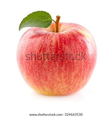 Ripe apple in closeup - stock photo