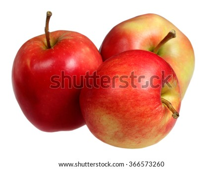Ripe apples it is isolated on a white background - stock photo