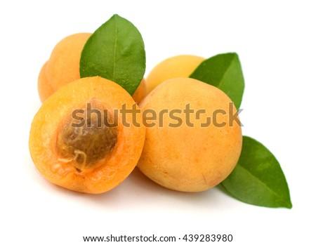 Ripe apricot. - stock photo