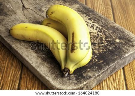 ripe bananas - stock photo