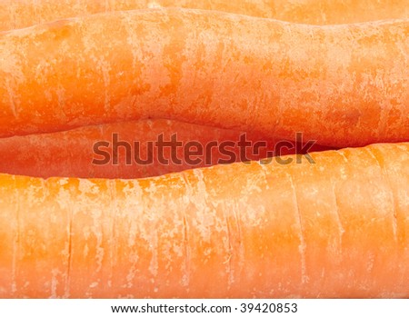 Ripe carrots as background