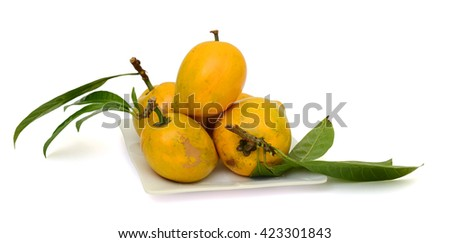 Ripe Egg fruits isolated on white background