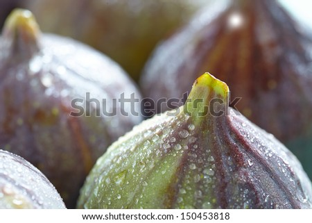 Ripe Fresh Figs - stock photo
