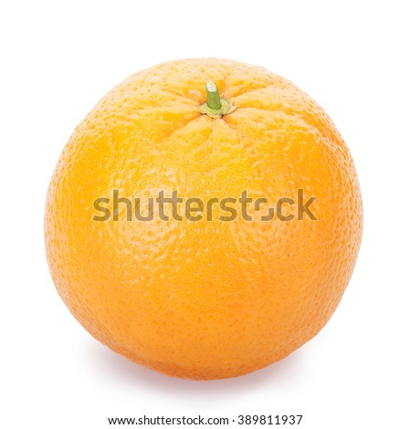 Ripe fresh orange on a white isolated. Clipping Path