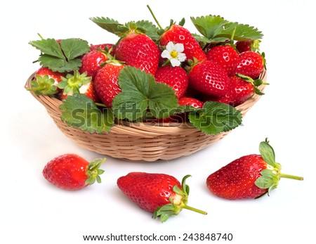 ripe  fresh strawberry - stock photo