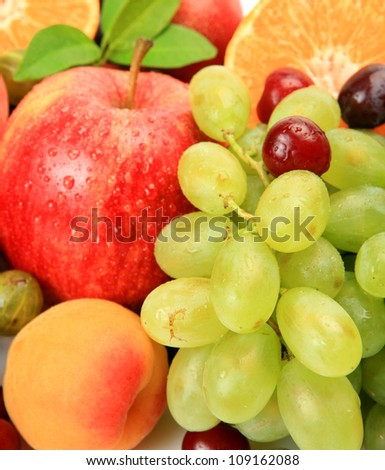 Ripe fruit and berries - stock photo