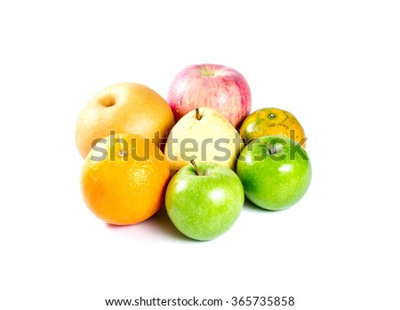 ripe fruit isolated on white background