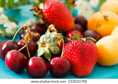 ripe fruits - stock photo