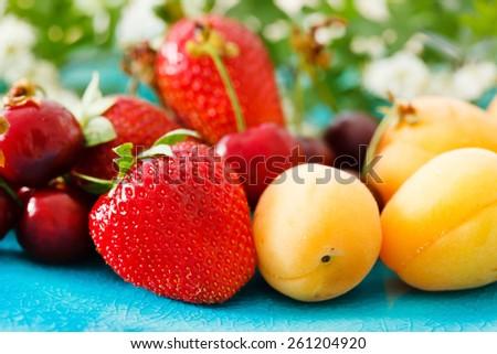 ripe fruits - stock photo
