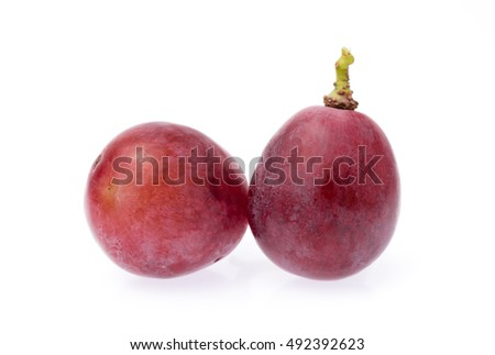 Ripe grape isolated on white background