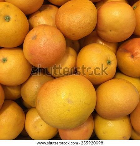 Ripe grapefruits background, Healthy eating concept - stock photo