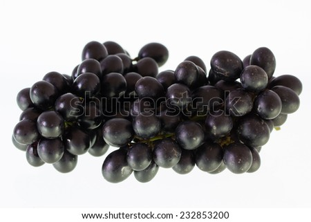 Ripe grapes isolate on white background