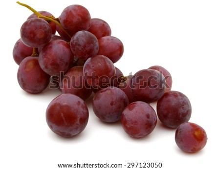 ripe grapes on white background  - stock photo