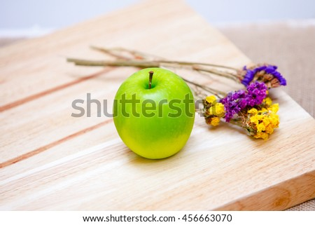Ripe green apple with leaf and slice isolated on a white background with clipping path,Green apple, isolated on white background,apple on tuxture background. - stock photo