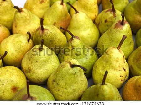 ripe green pears - stock photo