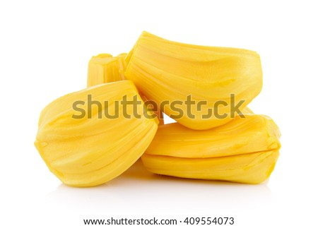 Ripe Jackfruit isolated on white background