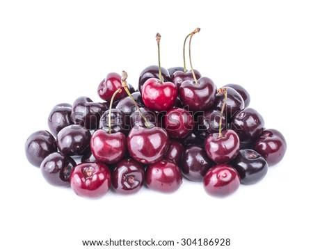 Ripe, juicy and delicious cherries. - stock photo