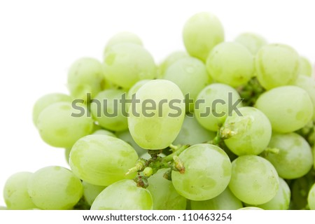 ripe juicy green grapes - stock photo