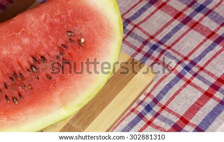 ripe juicy watermelon - stock photo