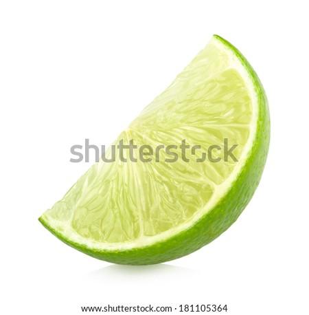 ripe lime slice - stock photo