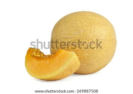 Ripe melon (Cantaloupe) - stock photo