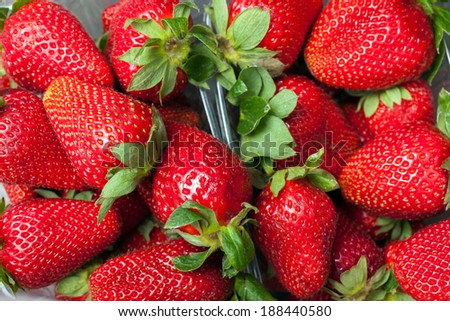 Ripe of fresh red strawberry background close up