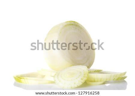 Ripe onion - stock photo