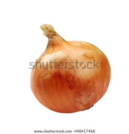 Ripe onion isolated on white