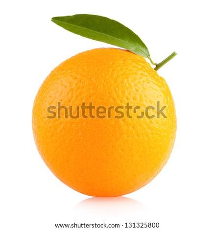 ripe orange - stock photo