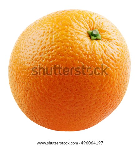 Ripe orange citrus fruit isolated on white background with clipping path