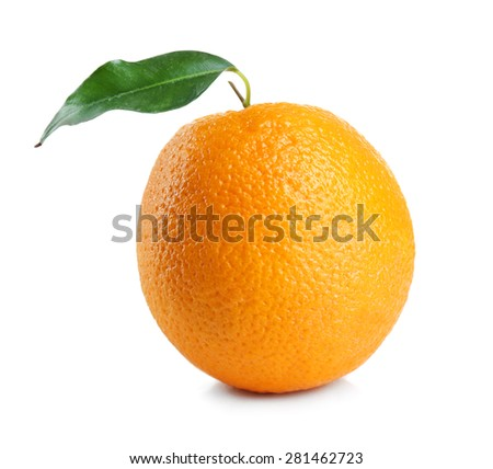 Ripe orange isolated on white